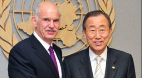Συνάντηση Γ. Παπανδρέου με τον πρώην γραμματέα των Ηνωμένων Εθνών