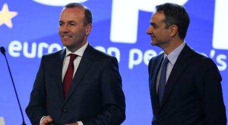 """Βέμπερ: Οι 3 πυλώνες της πολιτικής μου είναι, """"η δυνατή, η έξυπνη και η ευγενής Ευρώπη"""""""