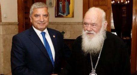Eμβάθυνση της συνεργασίας τους συμφώνησαν ο Αρχιεπίσκοπος με τον περιφερειάρχη Αττικής