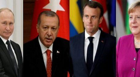 Ξεκίνησε η 4μερής Μέρκελ-Μακρόν-Πούτιν-Ερντογάν για τη Συρία
