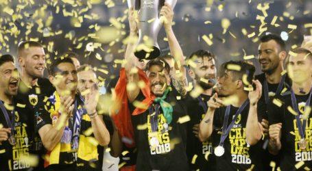 """Super League: """"Φιέστα"""" για την ΑΕΚ μετά από 24 χρόνια"""