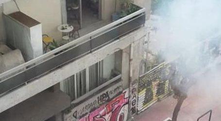 Επεισόδια και δακρυγόνα νωρίτερα έξω από την ΑΣΟΕΕ