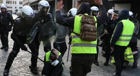 Βέλγιο: Η αστυνομία κράτησε σε στάβλους, διαδηλωτές των κίτρινων γιλέκων