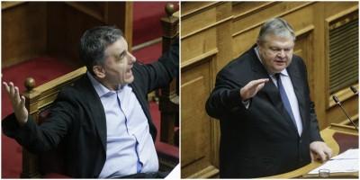 Βουλή: Κόντρα Βενιζέλου-Τσακαλώτου για πλεονάσματα και ειδικό λογαριασμό