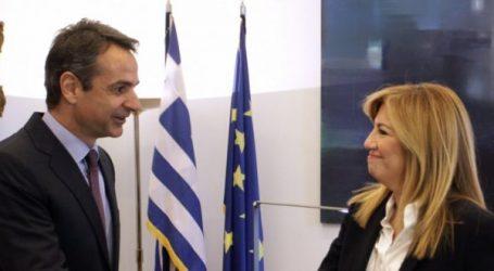 Τηλεφωνική επικοινωνία του πρωθυπουργού Κ. Μητσοτάκη με την πρόεδρο του ΚΙΝΑΛ Φ. Γεννηματά