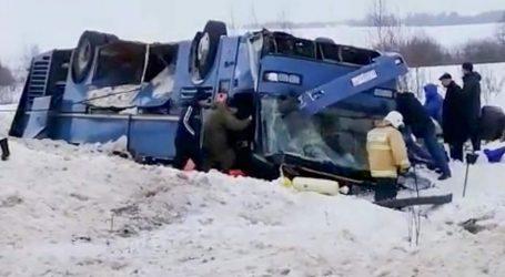 Ρωσία: Τουλάχιστον 7 νεκροί, μεταξύ τους 4 παιδιά, σε δυστύχημα με λεωφορείο