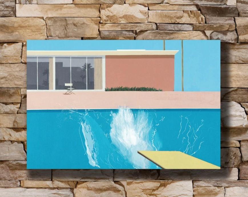 Ο πίνακας «The Splash» του Ντέιβιντ Χόκνεϊ αναμένεται να πωληθεί 39 εκατ. δολ. σε δημοπρασία