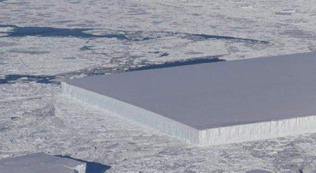 Η Φύση ξέρει γεωμετρία | Παγόβουνο τέλειο παραλληλόγραμμο στην Ανταρκτική